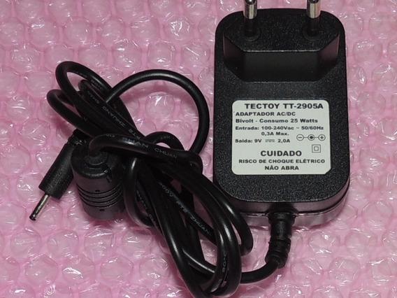 Carregador Fonte Para Tablet Tectoy Glow Tt-2905 Original