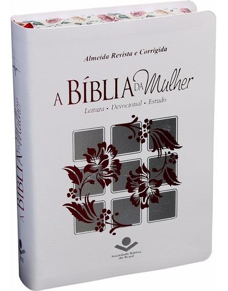 Bíblia Da Mulher Estudo Branca Beira Florida Almeida Rc
