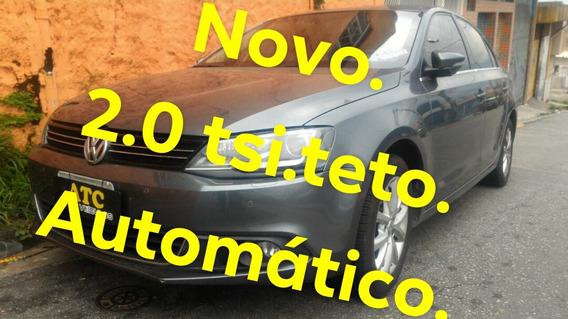 Jetta 2.0 Tsi Highline Completo Automatico Cinza 2013 C/teto