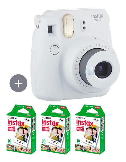 Câmera Instax Mini 9 Branco Gelo + 30 Fotos