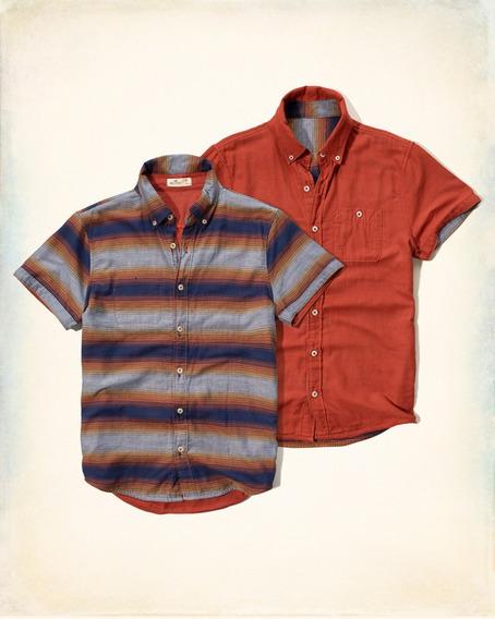 Hollister Dupla Face - Camisa Original - Tamanho L/g