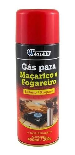 Gás Maçarico Fogareiro Western 400ml/200g Oferta