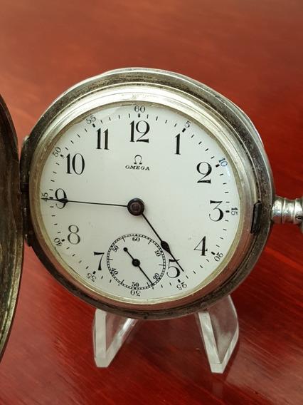 Reloj Omega De Bolsillo Con Caja De Plata Grand Prix Paris