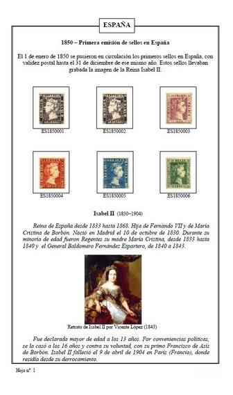 España - Álbum De Sellos P-imprimir Castellano Color L2185