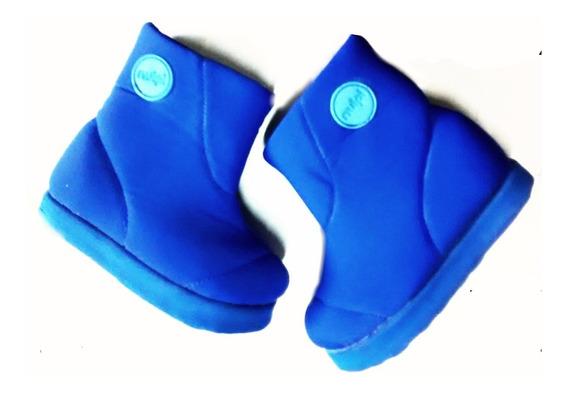 Botitas Chicos Tela Elastizada Azul Francia
