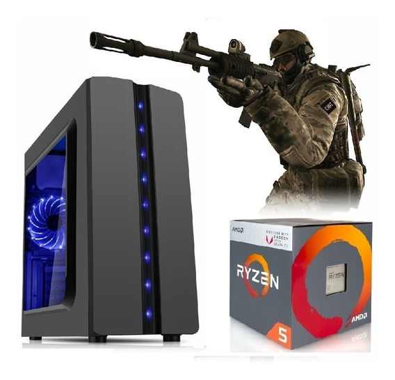 Pc Gamer Ryzen3 2200g Vega Granphis8 8gb Ram Hd1tb 400w