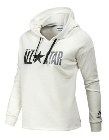 Buzo Converse Hoodie Icon W Blanco Moda Mujer!! @