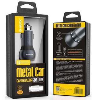 Carregador Carro Auto 2 Portas Usb Turbo Qualcomm 3.0 C/cabo