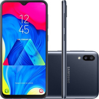 Samsung Galaxy M10 32gb -tela 6,2 -4g Câmera 13+5mp - Preto