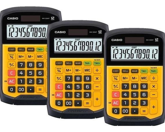 Paquete De 3 Calculadoras De Escritorio Casio Wm-320mt