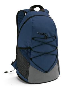 Kit Esportivo Premier Mochila E Squeeze Alumínio 500ml Azul