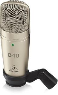 Microfone Profissional Behringer C1 Usb Para Estúdio **