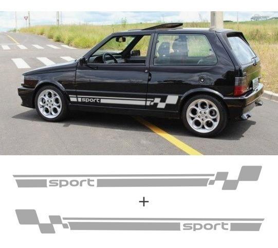 Adesivo Faixa Lateral Sport Uno Mille 2 4 Porta Smart Elx Sx