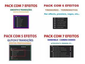 Combo 4 Packs De Efeitos E Transições Para Adobe Premiere