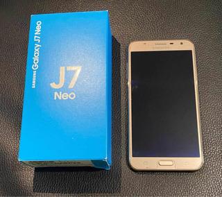Samsung J7 Neo Con Caja Y Accesorios, Impecable