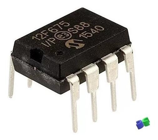 10pç - Pic12f675-i/p - Microchip - Dip-08