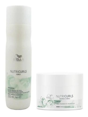Imagem 1 de 1 de Wella Shampoo250ml + Mascara  Nutricurl 150ml