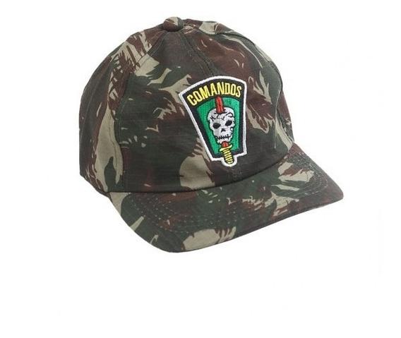 Boné Militar Rip Stop Bordado Comandos - Cmf Exército B.
