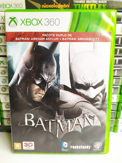 Pacote Batman Arkham City + Asylum Xbox 360 - Original