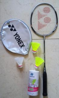 Raquete De Badminton Yonex Muscle Power 2 Com 3 Petecas