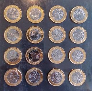 Colección 16 Monedas De Rio 2016