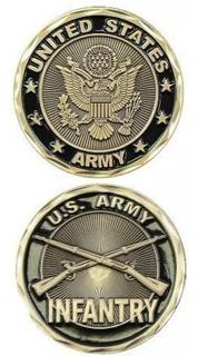 Moneda Del Desafío De Infantería Del Ejército De Ee. Uu.