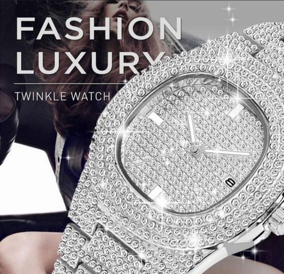 Relógio De Luxo Cristal De Cerâmica Revestido Quartzo