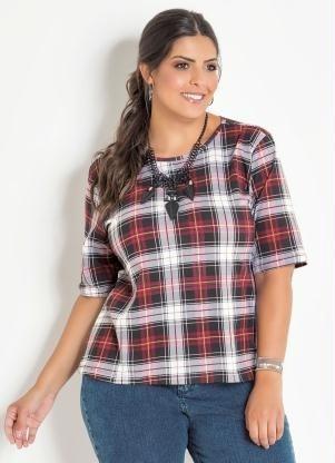 Camisa Xadrex Plus Size - Tamanho G Gg Xxg Xlg