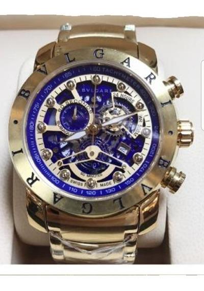 Relógio Bvlgari Skeletion Vidro Safira Todo Funcional