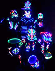Robot Led Batucada De Robots Led Y Show De Baile