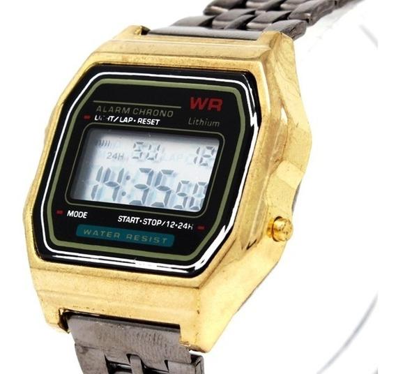Reloj Mini Caballero Dama Unisex Marca Wr Metálico