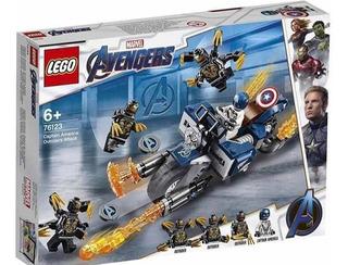 Lego Endgame Capitan América 76123 Outriders Envio Gratis