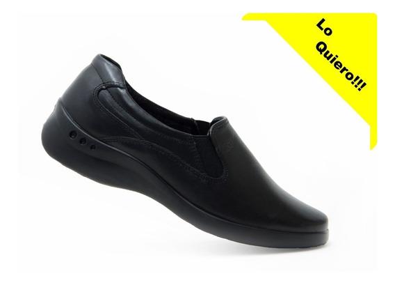Flexi Dama Zapatos Comodos 48301 Negro 100% Originales!!