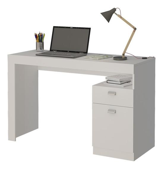 Mesa Para Computador Escrivaninha 1 Porta Permóbili Branco