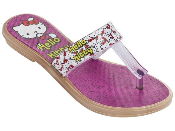Ojota Hello Kitty Rasteiro Color Morado 23 Al 33