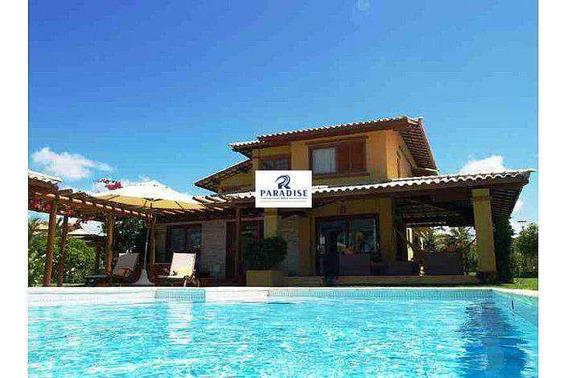 Casa Em Imbassaí, Condomínio Fechado -r$ 1.200.000,00- 375 M² - V68369