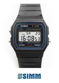 Reloj Casio Unisex F-91w-1cr Vintage Digital - Simmcye