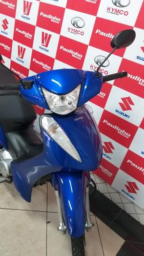 Imagem 1 de 10 de Honda Biz 125 Azul 2017