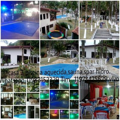 Casa Com Piscina Aquecida,ar Condicionado,salão Jogos,hidro