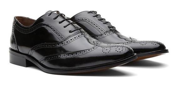 Sapato Masculino Oxford Cromo Preto 404 - Frete Grátis