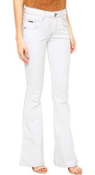 Calça Jeans Lança Perfume Low Flare Branca