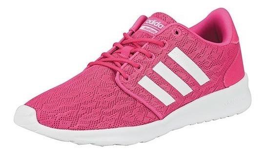 Tenis adidas Cf Qt Racer Fucsia Tallas #22 Al #26 Mujer Ppk