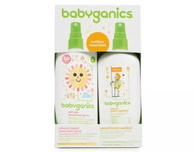 Kit Babyganics Protetor Solar 50+ Repelente De Insetos 177ml