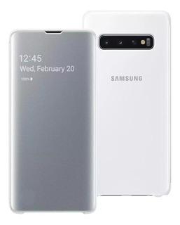 Capa Clear View Branca Original Samsung Galaxy S10 Plus S10+ Com Nf