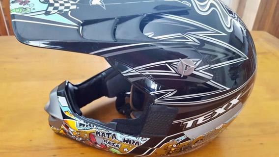 Capacete Motocross/trilha Infantil Texx Tam 52 Mod Mx Kids