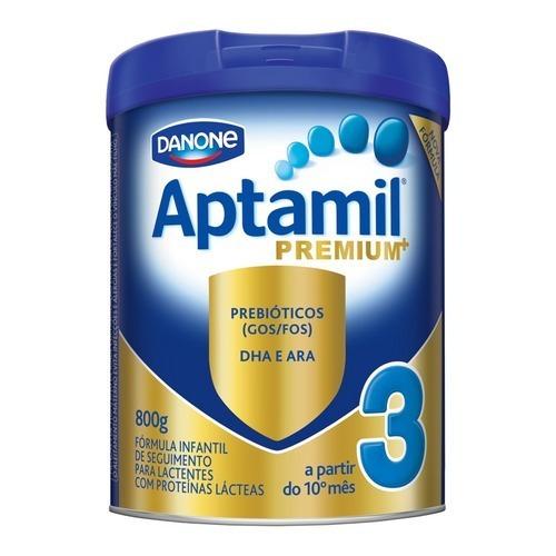 Kit 3 Leite Aptamil 3 Premium 800g - Danone - Frete Grátis -