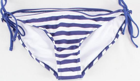 Bikini 1 Pieza Rayado Morado Stilo Tl42 - Envio Gratis