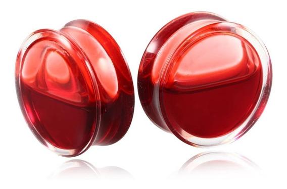 Alargador Plug De Acrílico Blood/sangue 18,20,22,25mm - Par