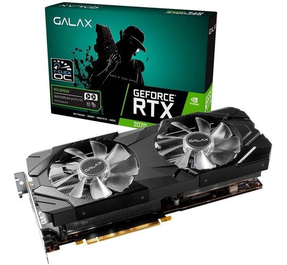 Placa De Vídeo Galax Nvidia Rtx 2070 Ex Black 8gb Gddr6