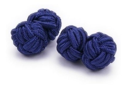 Mancuernillas De Tela Elásticas Vstone Azul Marino